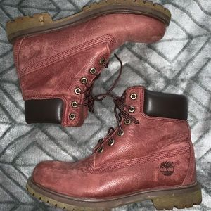 AUTHENTIC Timberland 8.5 Size Maroon Boots